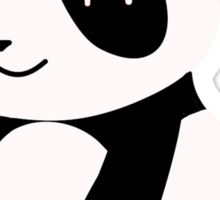 Happy Cartoon Panda Sticker