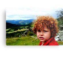Child portrait, Cader Idris  Metal Print