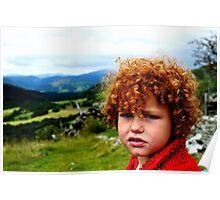 Child portrait, Cader Idris  Poster