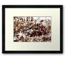 Wagon Wheel - bleeding wheel Framed Print