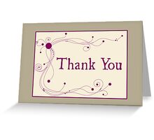 Thank You - Swirls 'n Dots Greeting Card