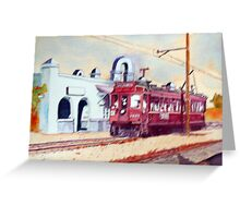 Los Angeles Old Trolly Car Greeting Card