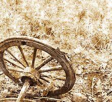 Wagon Wheel - sepia by timageco