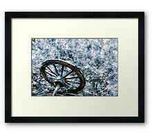 Wagon wheel - Cold Framed Print