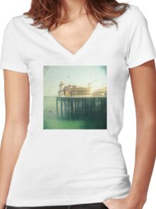 The Pier Women's Fitted V-Neck T-Shirt