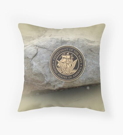 Honoring the US Military Services - Navy Throw Pillow