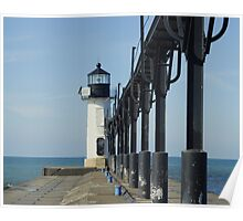 South Haven Pier Light Poster