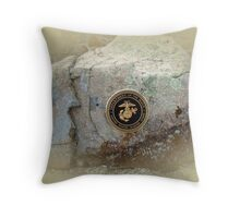 Honoring the US Military Services - Marine Corps Throw Pillow