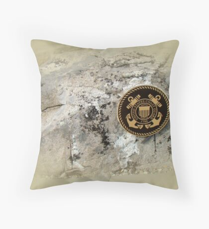 Honoring the US Military Services - Coast Guard Throw Pillow