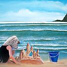 Castles in the sand Acrylic Painting by Rick Short