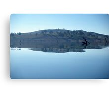 lakescape with hills Canvas Print