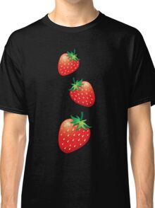 3 Strawberries fruit down Classic T-Shirt