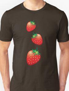 3 Strawberries fruit down T-Shirt