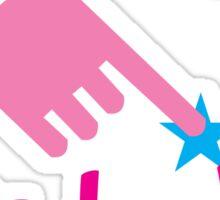 HANDS off my BELLY! pregnancy funny design Sticker