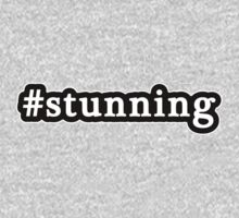 Stunning - Hashtag - Black & White One Piece - Long Sleeve