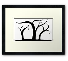 Halloween Town Trees Framed Print