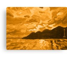Island Sunset of Fire   Canvas Print