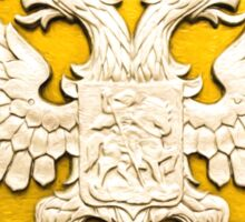 Double Headed Silver Eagle on Gold Sticker
