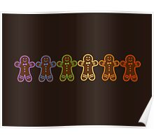 Rainbow Gingerbreads  Poster