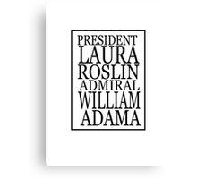 Roslin and Adama Canvas Print