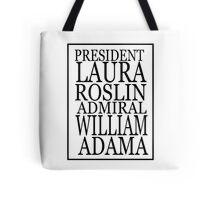 Roslin and Adama Tote Bag