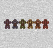 Rainbow Gingerbreads  One Piece - Short Sleeve