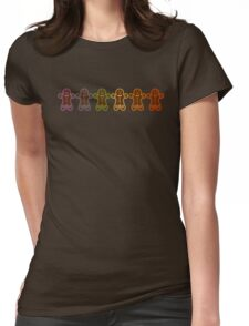 Rainbow Gingerbreads  Womens Fitted T-Shirt