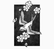 Sparrow Through Blossoms Unisex T-Shirt