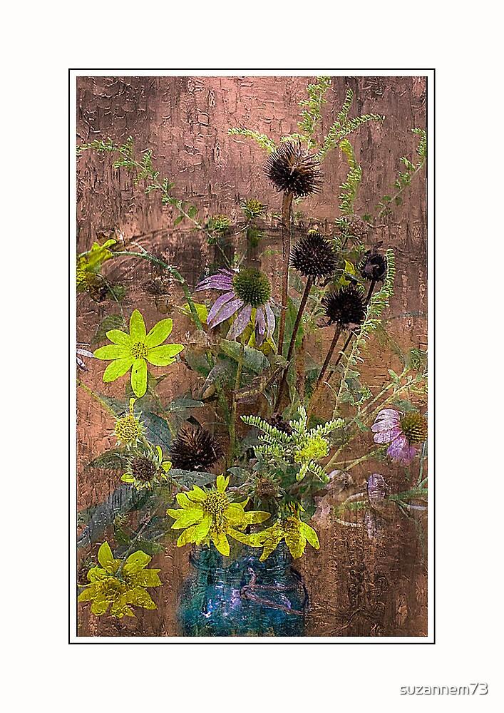 Autumn Bouquet in a Mason Jar by suzannem73