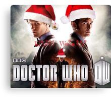 Doctor who Christmas style 50th anniversary  Canvas Print