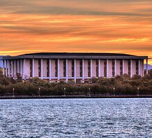 National Library Canberra Australia  just on sunset by Kym Bradley