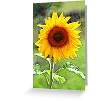 Sunflower, oilpainting style Greeting Card