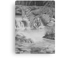Water Cat - Bengal Tiger Canvas Print