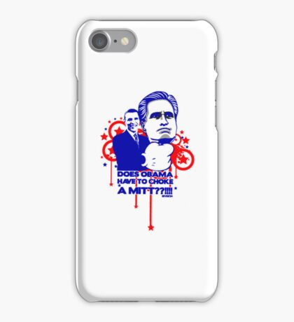 OBAMA VS MITT tee :D iPhone Case/Skin