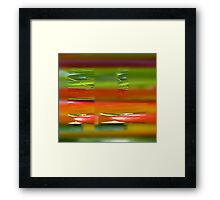 Cherryplums, abstract Framed Print
