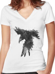 Ink In Flight Women's Fitted V-Neck T-Shirt