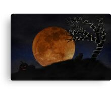 Halloween on Haunted Hill Canvas Print