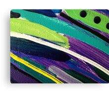 Green Purple and Blue Canvas Canvas Print
