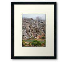 Rain at Split Mountain Framed Print