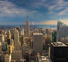 Midtown Manhattan Sunset by Randy  LeMoine
