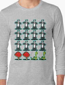 Badger Badger Mushroom Snake Long Sleeve T-Shirt