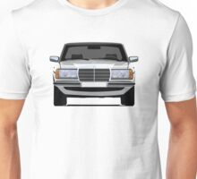 Mercedes-Benz W123 white illustration Unisex T-Shirt