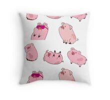 Waddles Throw Pillow
