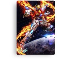 Try Burning Gundam From Gundam Build Fighters Try Canvas Print