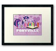 Ponyville Public Library Framed Print