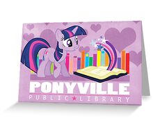 Ponyville Public Library Greeting Card