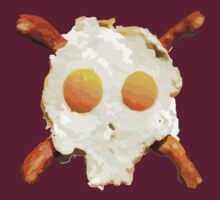 Bacon Eggs Skull by David Ayala