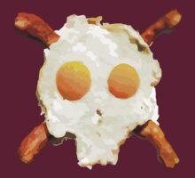 Bacon Eggs Skull by David Ayala