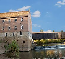 Bollinger Mill and Burfordville Covered Bridge by barnsis