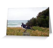 Beach Bird Ten - 14 10 12 Greeting Card